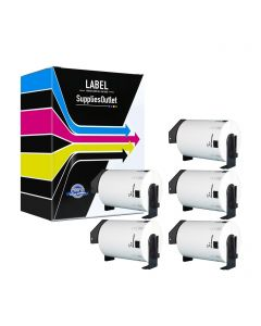 CBDK1240VB | Brother DK1240 Compatible Paper Labels 5-Pack