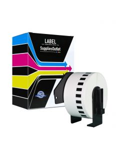 CBDK2225 | Brother DK2225 Compatible Black On White Continuous Paper Tape
