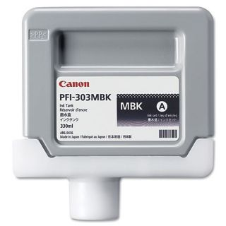 Canon 2957B001AA (PFI-303MBK) OEM Pigment Matte Black Ink Cartridge