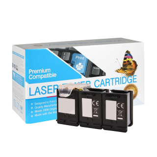 RF6U64AN-3P | Compatible Black Ink Cartridge 3-Pack (1 Printhead + 3 EcoSaver Tanks) - HP F6U64AN (HP 63XL)